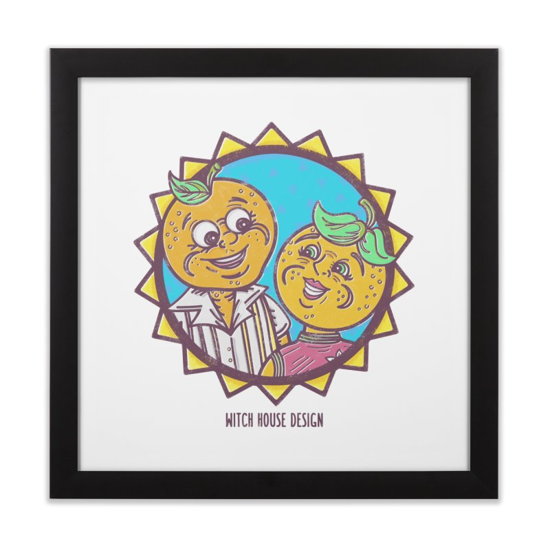 Sun-sational Oranges Home Framed Fine Art Print by Witch House Design