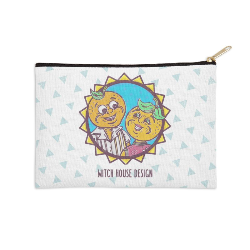 Sun-sational Oranges Accessories Zip Pouch by Witch House Design