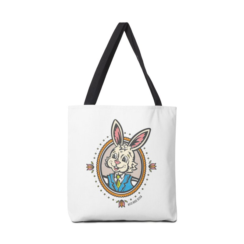 Mr. Rabbit Portrait Accessories Tote Bag Bag by Witch House Design