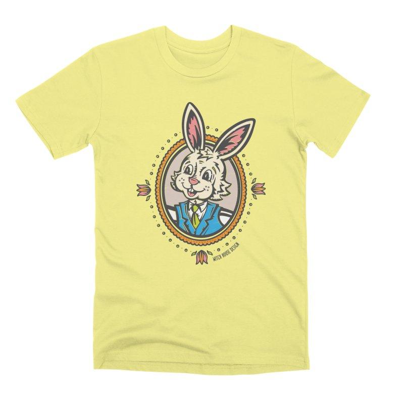 Mr. Rabbit Portrait Men's Premium T-Shirt by Witch House Design