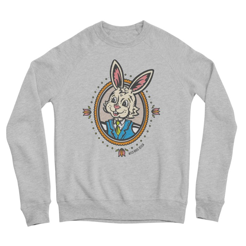 Mr. Rabbit Portrait Women's Sponge Fleece Sweatshirt by Witch House Design