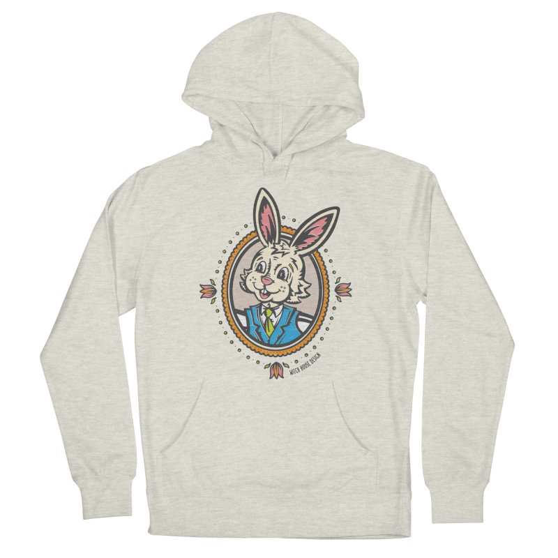 Mr. Rabbit Portrait Men's French Terry Pullover Hoody by Witch House Design