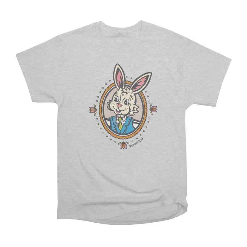 Mr. Rabbit Portrait Women's Heavyweight Unisex T-Shirt by Witch House Design