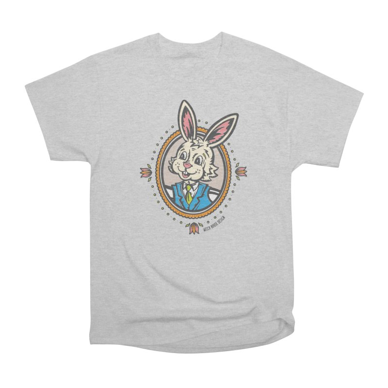Mr. Rabbit Portrait Men's Heavyweight T-Shirt by Witch House Design