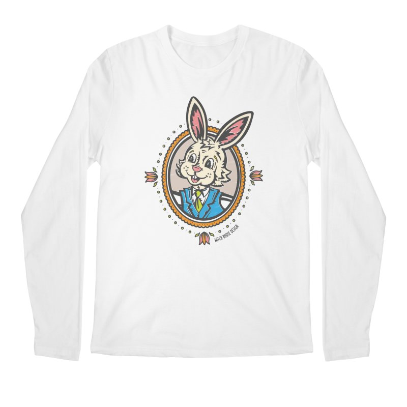 Mr. Rabbit Portrait Men's Regular Longsleeve T-Shirt by Witch House Design