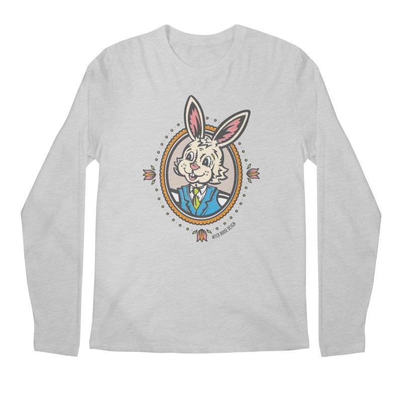 Mr. Rabbit Portrait Men's Regular Longsleeve T-Shirt by Witch House Design