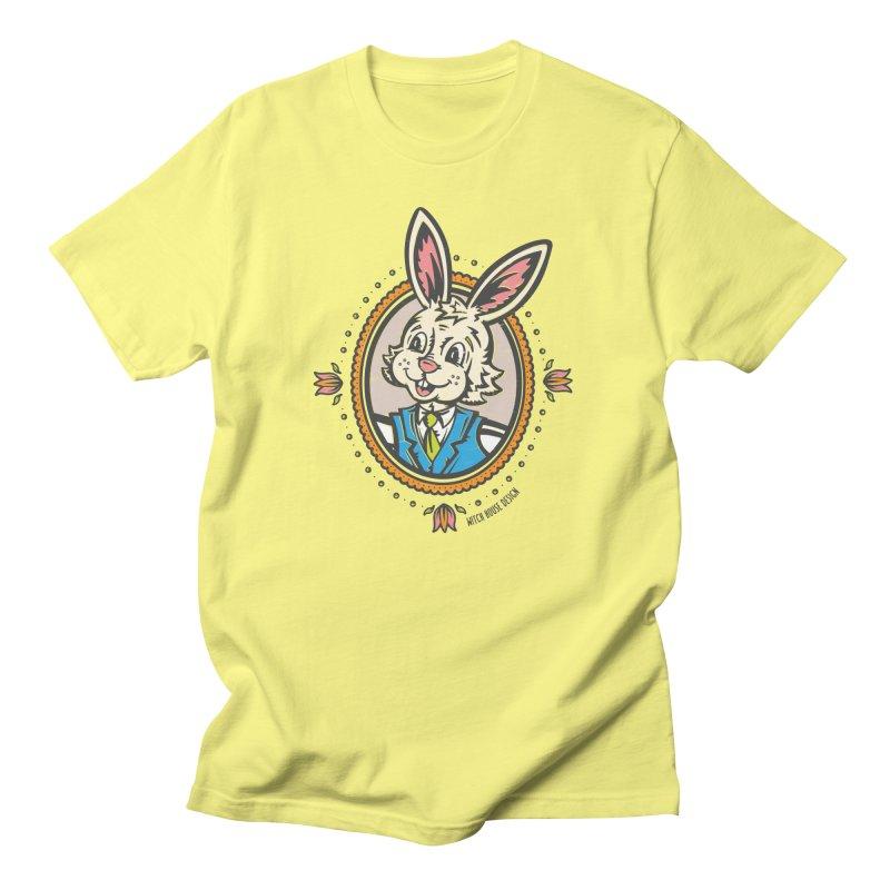Mr. Rabbit Portrait Men's T-Shirt by Witch House Design