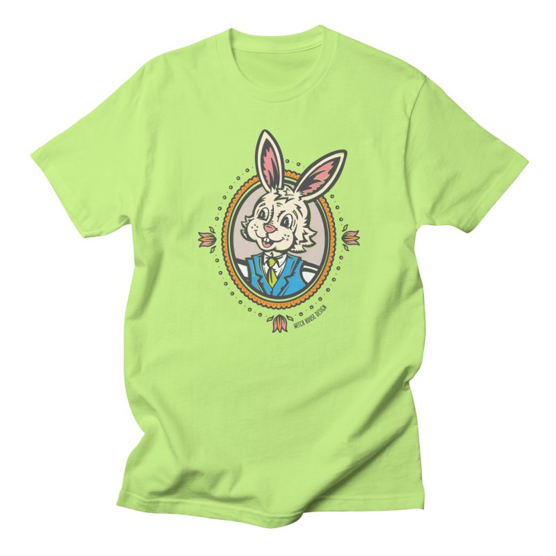Mr. Rabbit Portrait Men's Regular T-Shirt by Witch House Design
