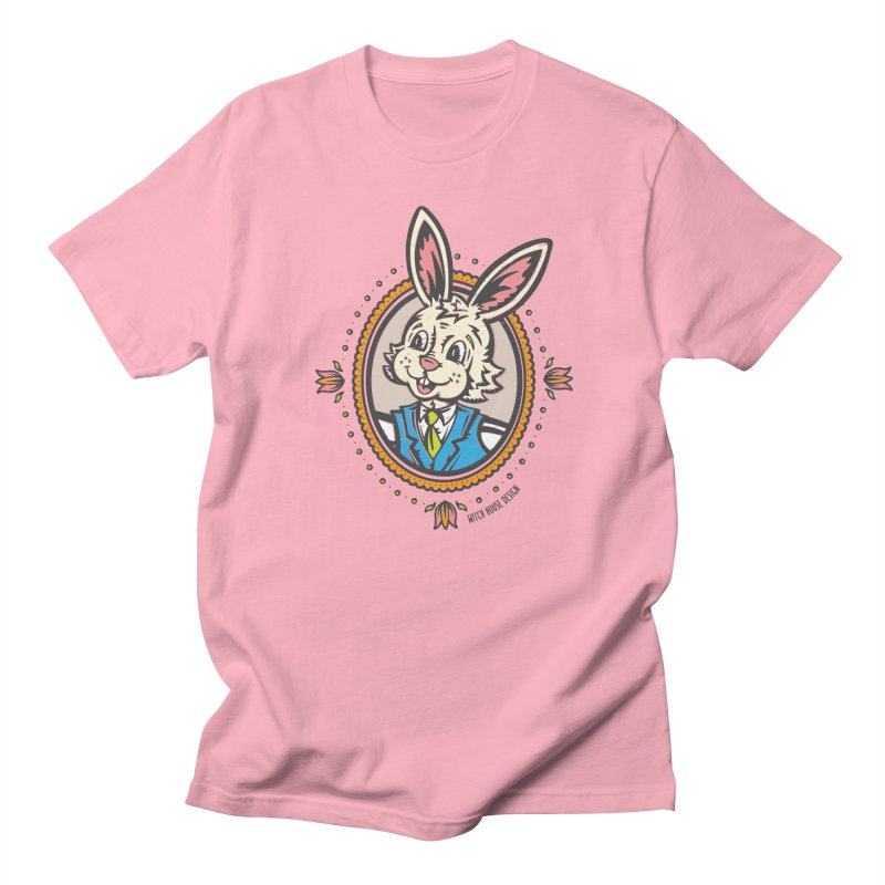 Mr. Rabbit Portrait Men's Regular T-Shirt by Witch House Design