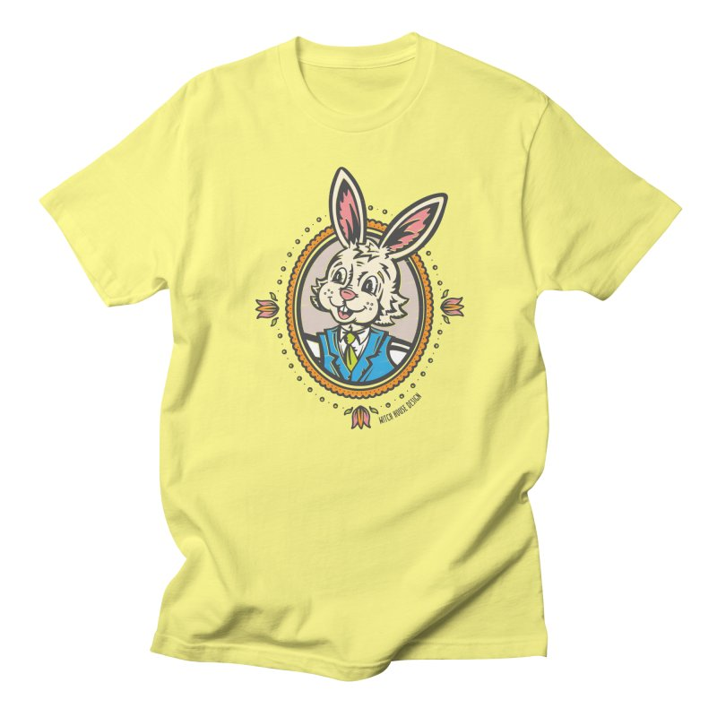 Mr. Rabbit Portrait Women's Regular Unisex T-Shirt by Witch House Design