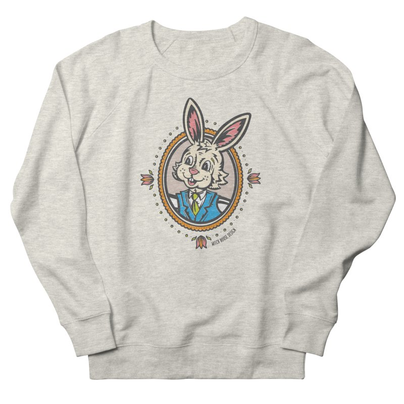 Mr. Rabbit Portrait Men's French Terry Sweatshirt by Witch House Design