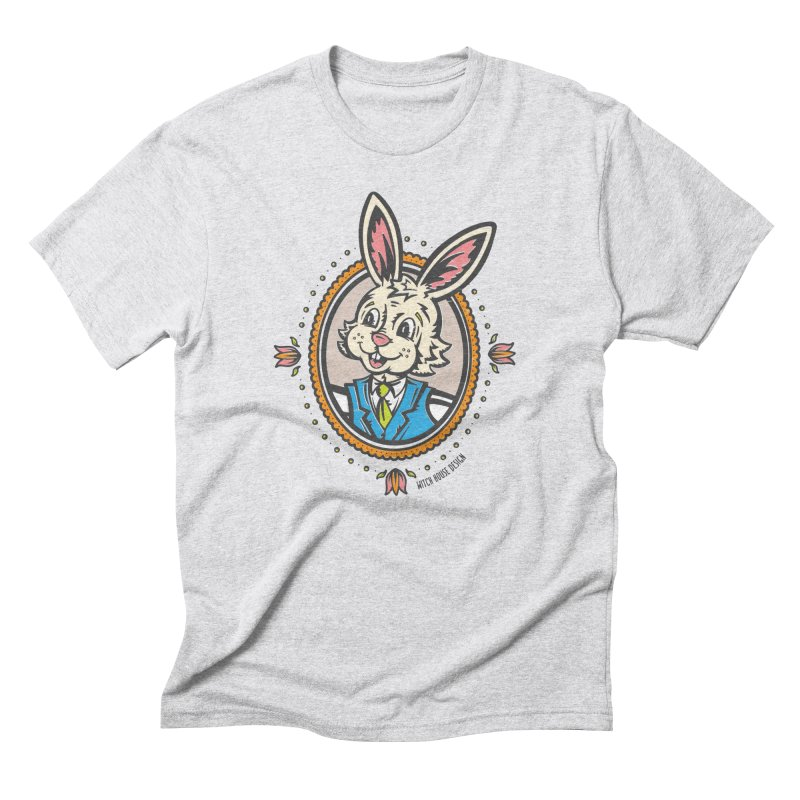 Mr. Rabbit Portrait Men's Triblend T-Shirt by Witch House Design