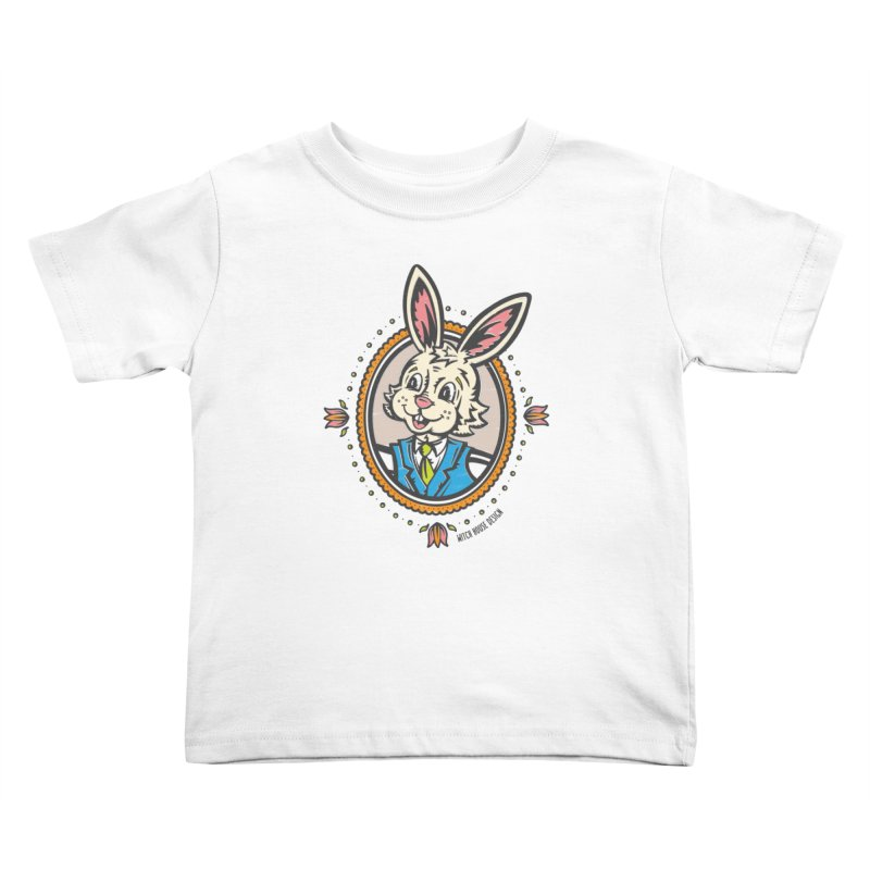 Mr. Rabbit Portrait Kids Toddler T-Shirt by Witch House Design