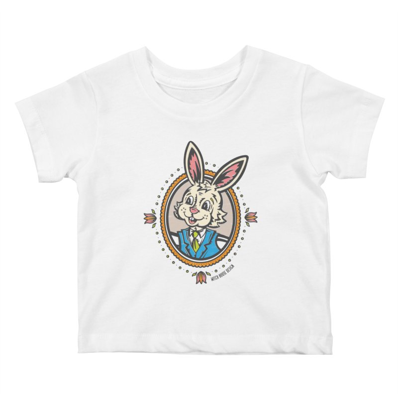 Mr. Rabbit Portrait Kids Baby T-Shirt by Witch House Design