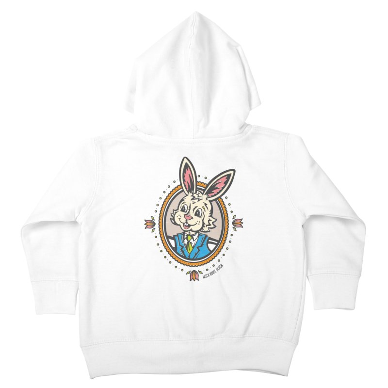 Mr. Rabbit Portrait Kids Toddler Zip-Up Hoody by Witch House Design