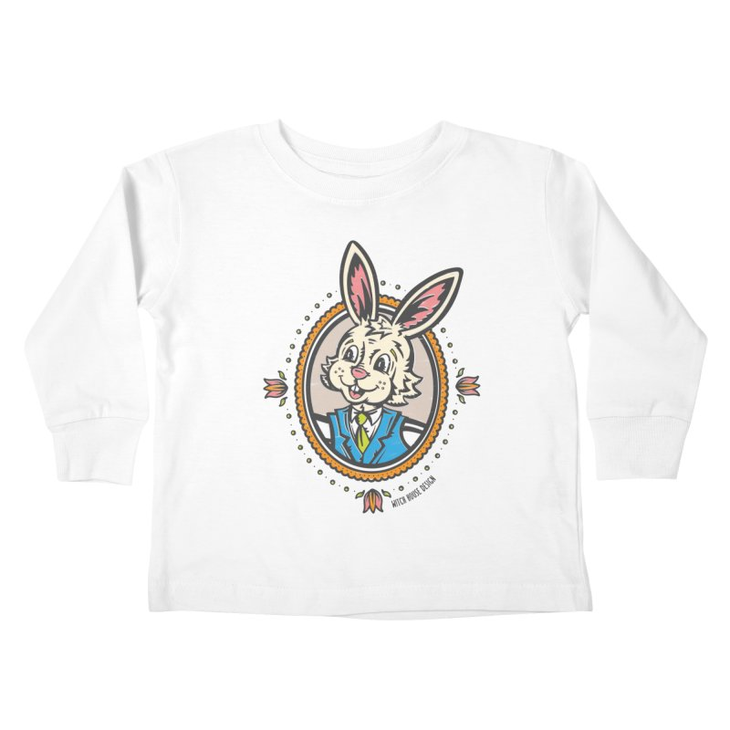 Mr. Rabbit Portrait Kids Toddler Longsleeve T-Shirt by Witch House Design