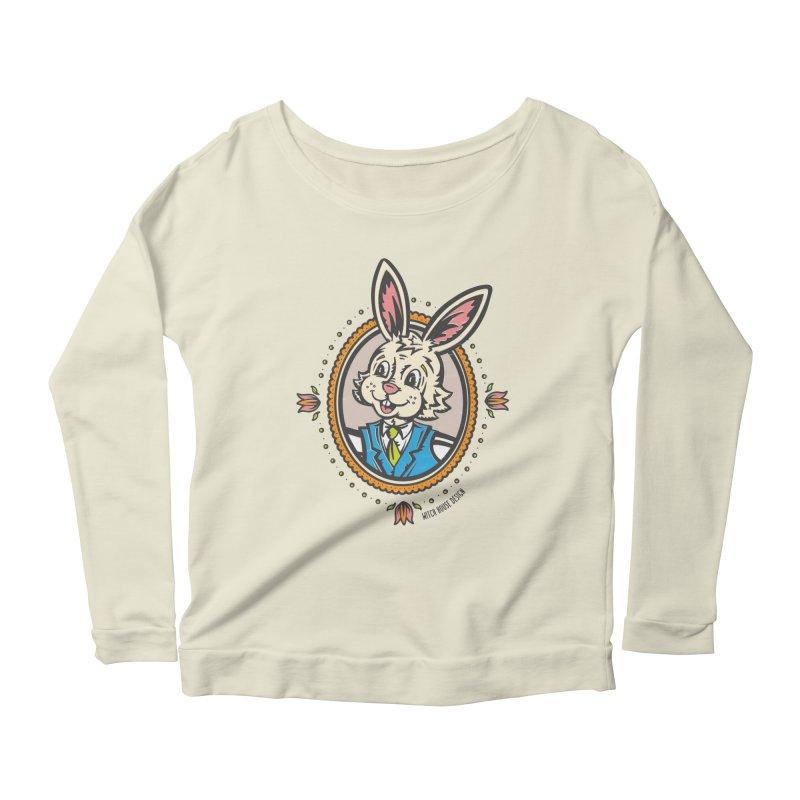 Mr. Rabbit Portrait Women's Scoop Neck Longsleeve T-Shirt by Witch House Design