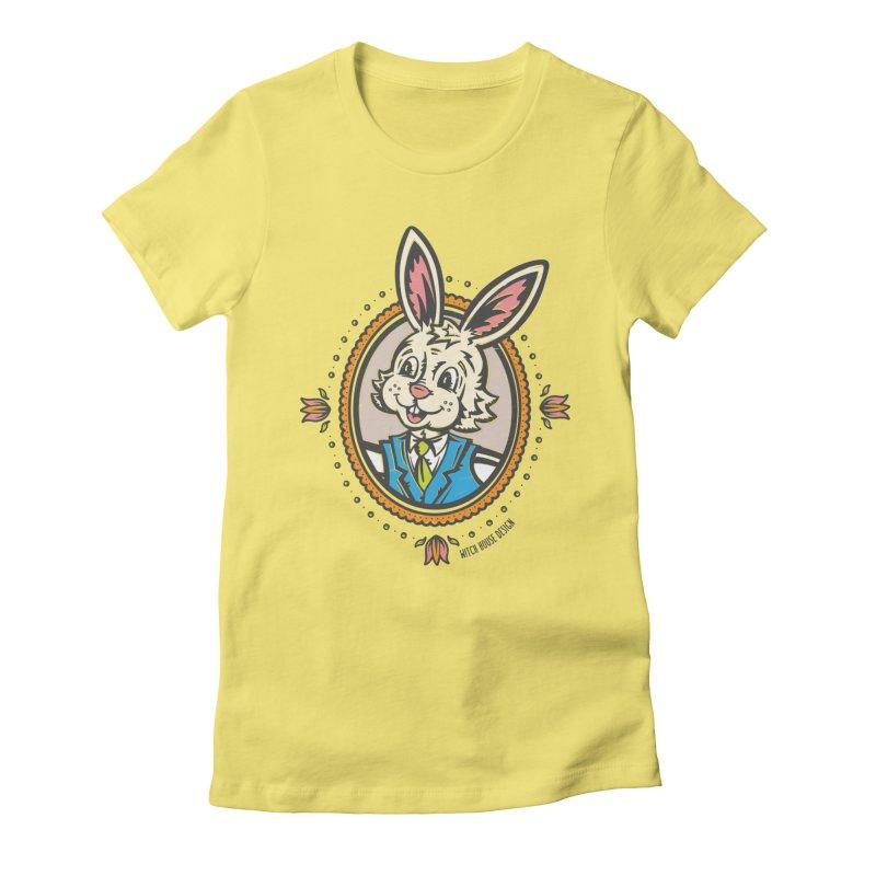 Mr. Rabbit Portrait Women's T-Shirt by Witch House Design