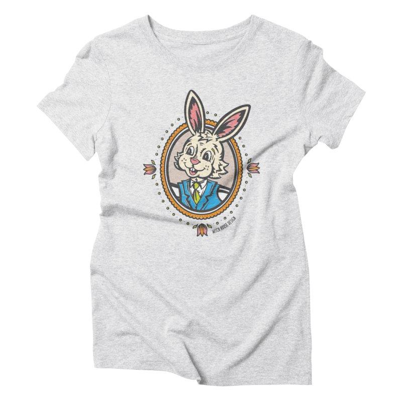 Mr. Rabbit Portrait Women's Triblend T-Shirt by Witch House Design