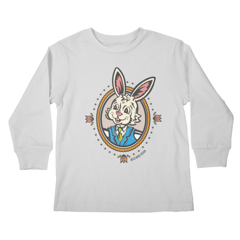 Mr. Rabbit Portrait Kids Longsleeve T-Shirt by Witch House Design