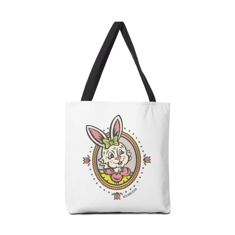 Ms. Rabbit Portrait Accessories Tote Bag Bag by Witch House Design