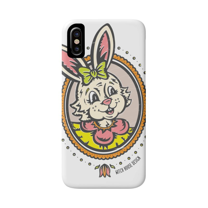 Ms. Rabbit Portrait Accessories Phone Case by Witch House Design