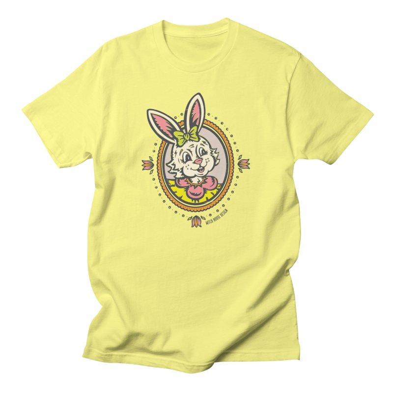 Ms. Rabbit Portrait Men's T-Shirt by Witch House Design