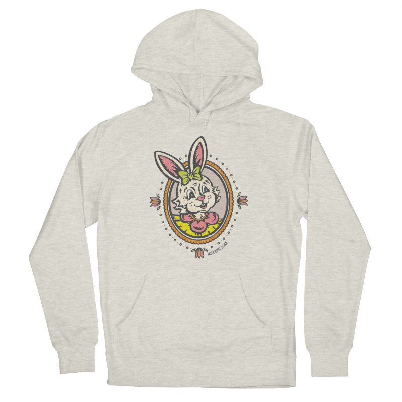 Ms. Rabbit Portrait Men's French Terry Pullover Hoody by Witch House Design