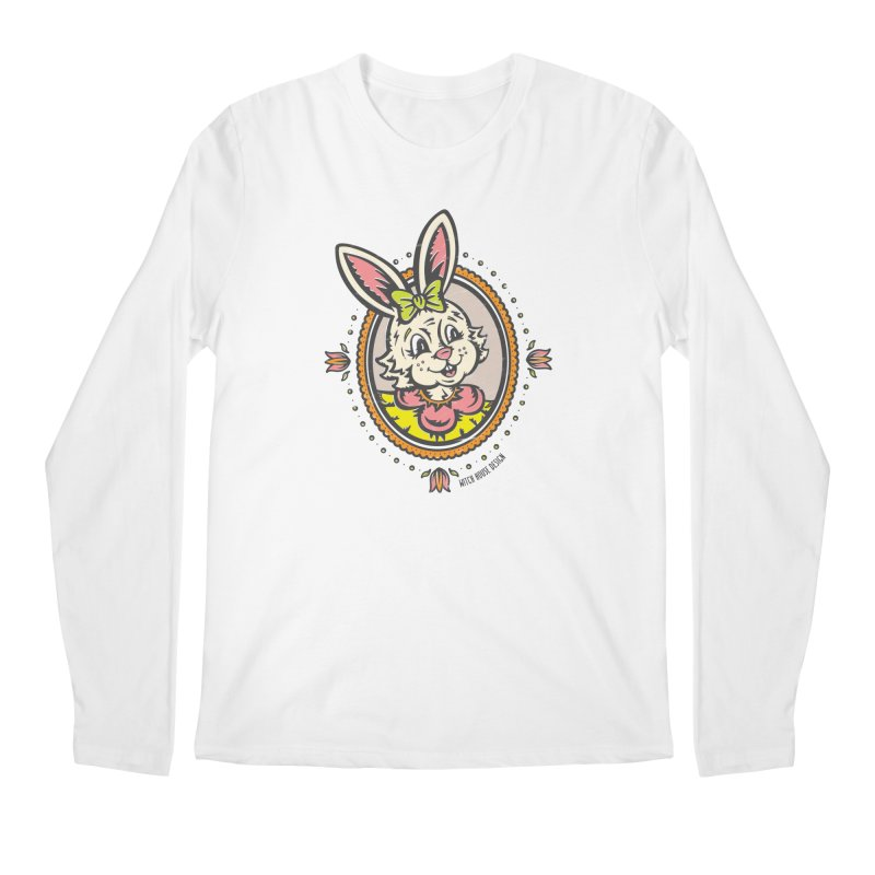 Ms. Rabbit Portrait Men's Regular Longsleeve T-Shirt by Witch House Design