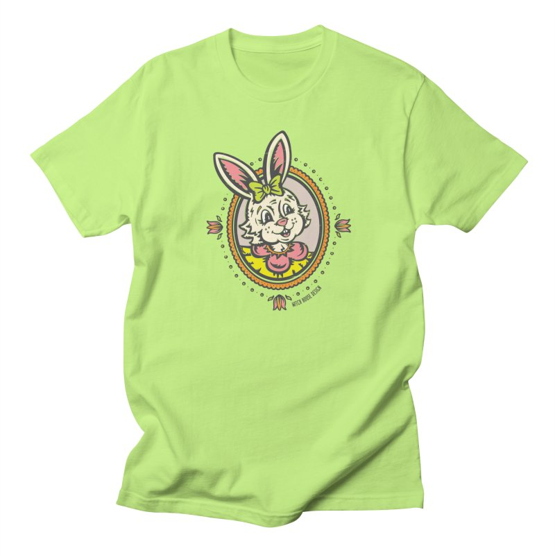 Ms. Rabbit Portrait Men's Regular T-Shirt by Witch House Design