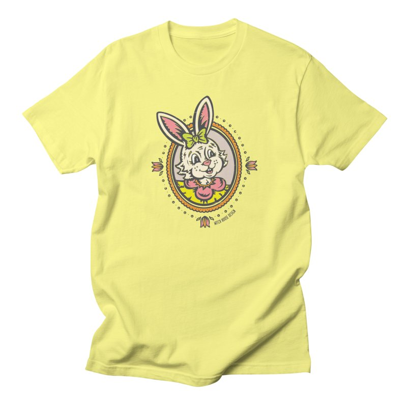 Ms. Rabbit Portrait Women's Regular Unisex T-Shirt by Witch House Design
