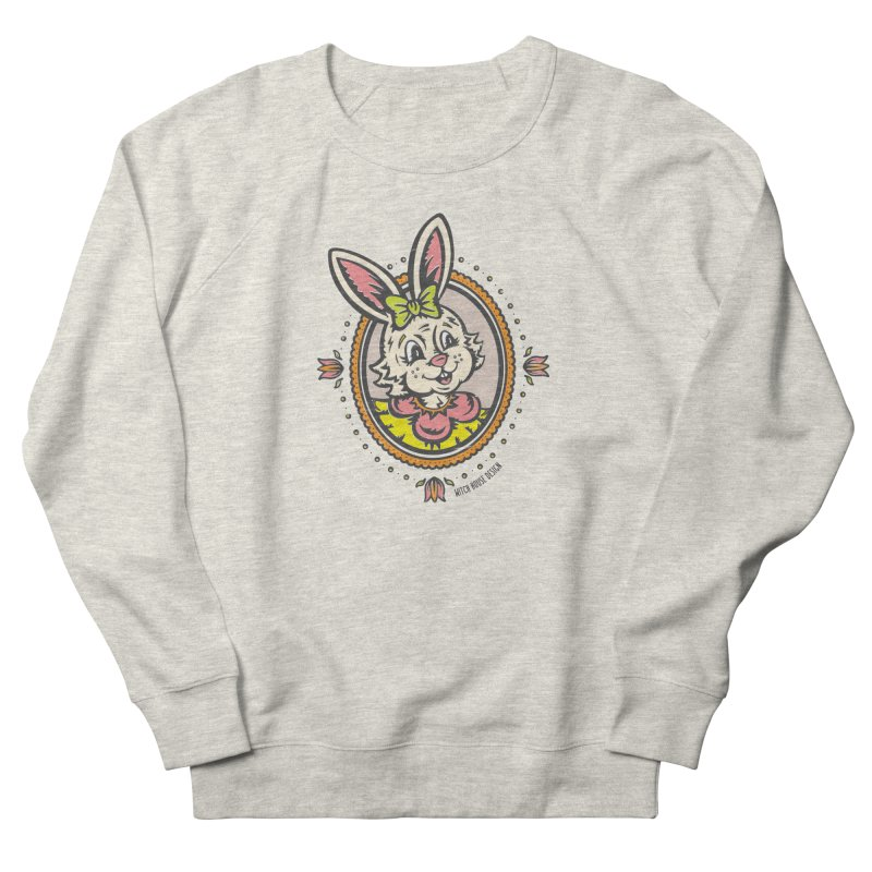 Ms. Rabbit Portrait Women's French Terry Sweatshirt by Witch House Design