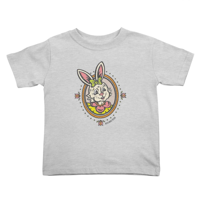 Ms. Rabbit Portrait Kids Toddler T-Shirt by Witch House Design