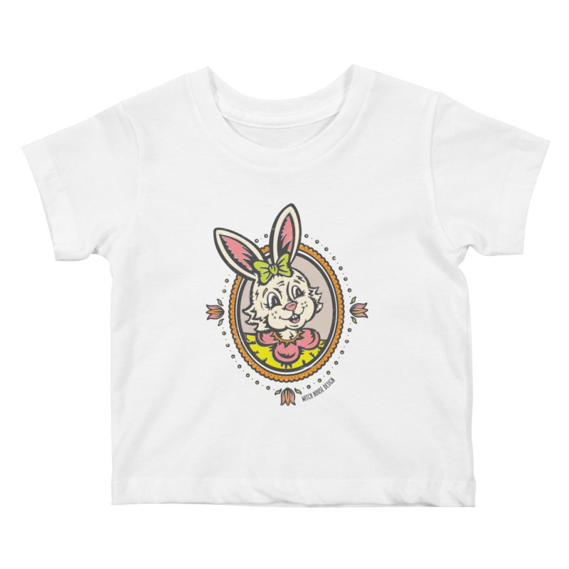 Ms. Rabbit Portrait Kids Baby T-Shirt by Witch House Design