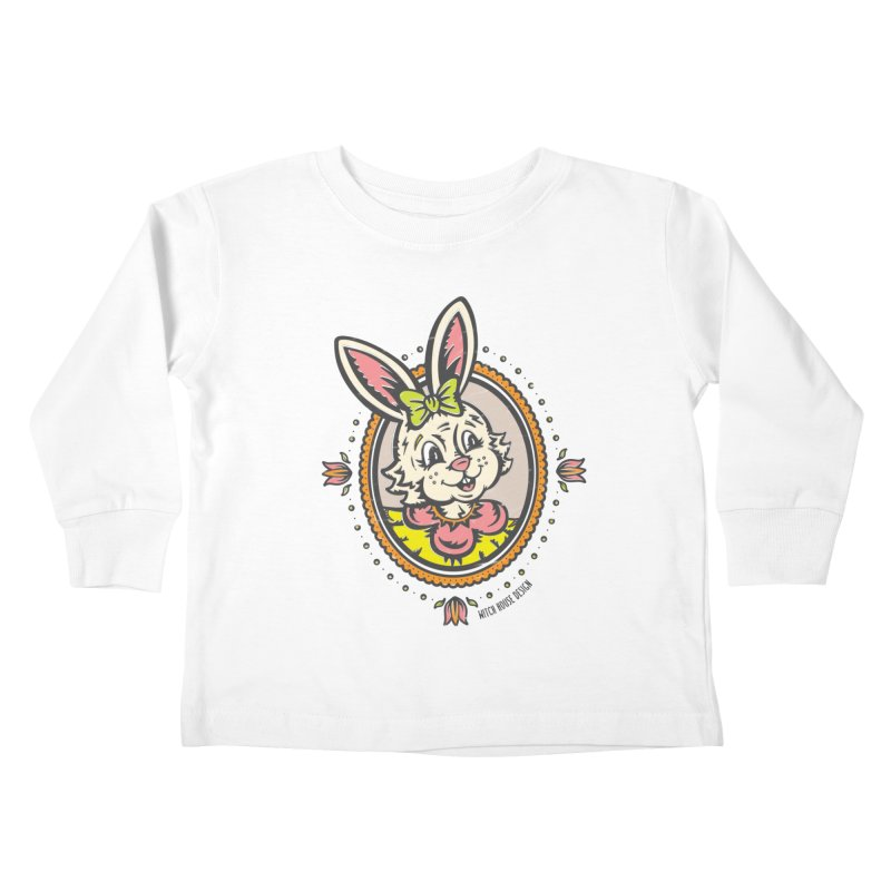 Ms. Rabbit Portrait Kids Toddler Longsleeve T-Shirt by Witch House Design