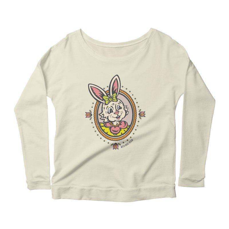Ms. Rabbit Portrait Women's Scoop Neck Longsleeve T-Shirt by Witch House Design