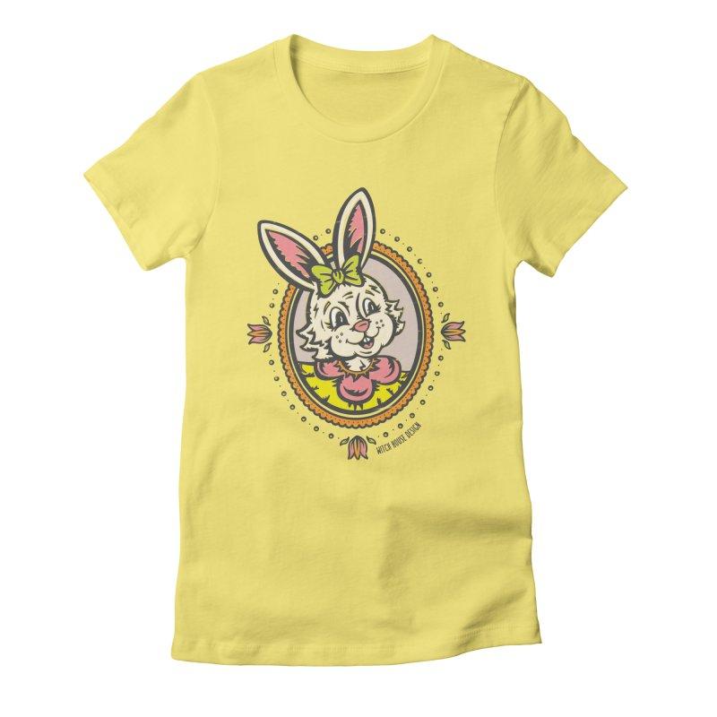 Ms. Rabbit Portrait Women's T-Shirt by Witch House Design