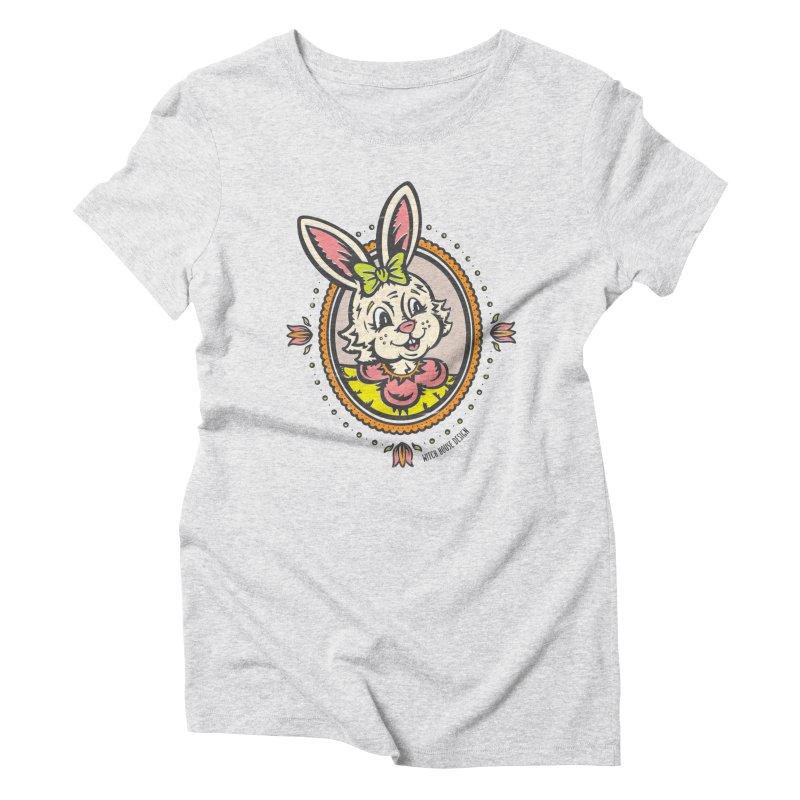 Ms. Rabbit Portrait Women's Triblend T-Shirt by Witch House Design
