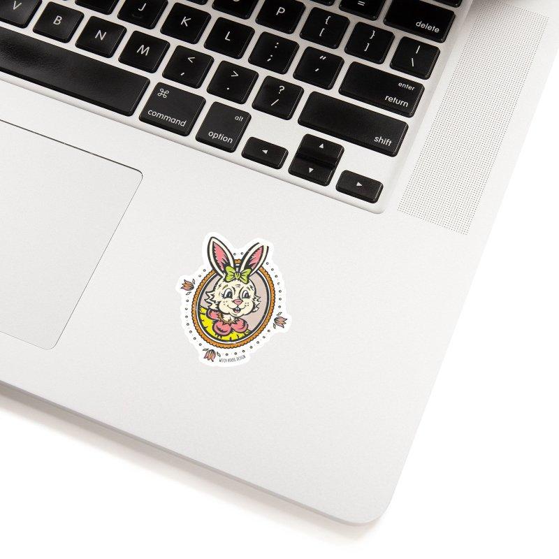 Ms. Rabbit Portrait Accessories Sticker by Witch House Design