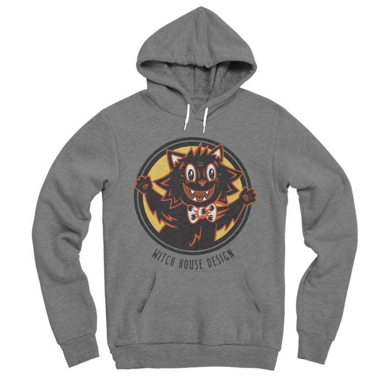 Stitious Men's Sponge Fleece Pullover Hoody by Witch House Design
