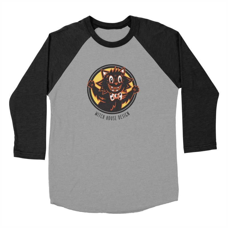 Stitious Women's Baseball Triblend Longsleeve T-Shirt by Witch House Design