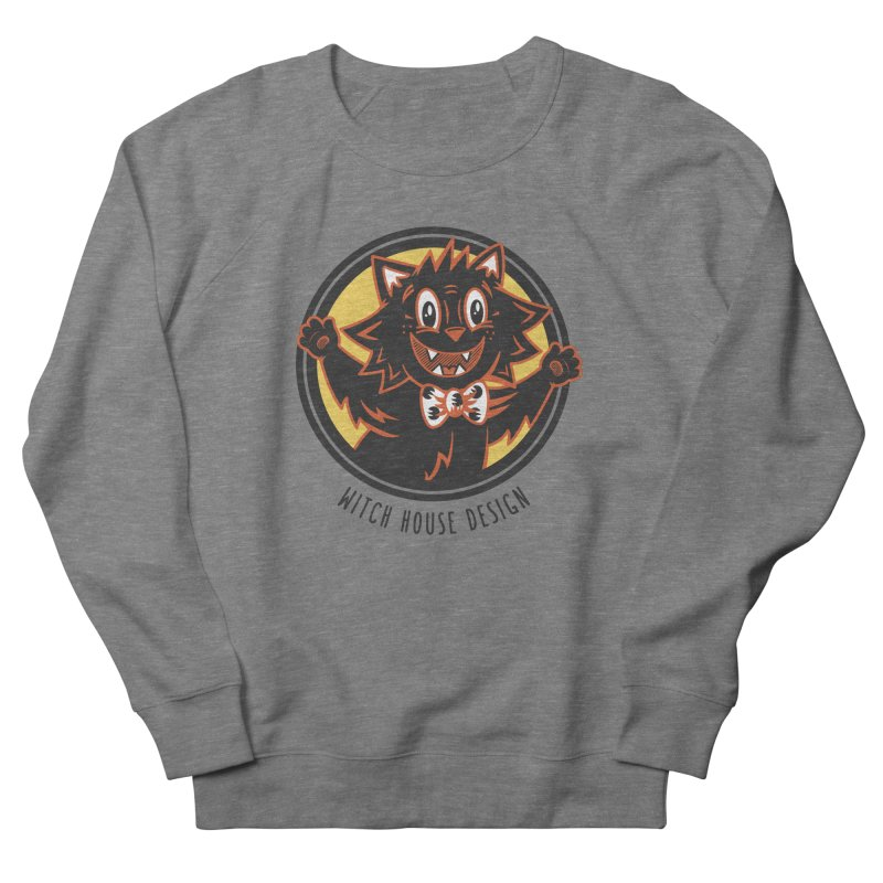 Stitious Men's French Terry Sweatshirt by Witch House Design