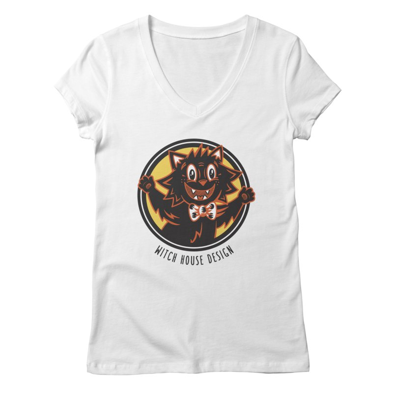 Stitious Women's V-Neck by Witch House Design