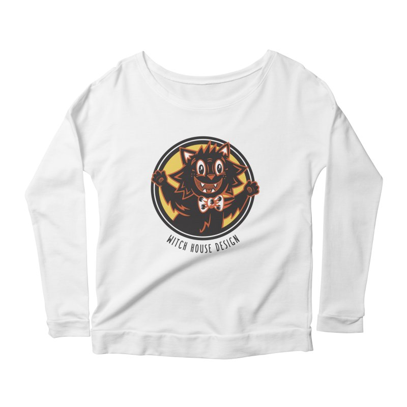 Stitious Women's Scoop Neck Longsleeve T-Shirt by Witch House Design