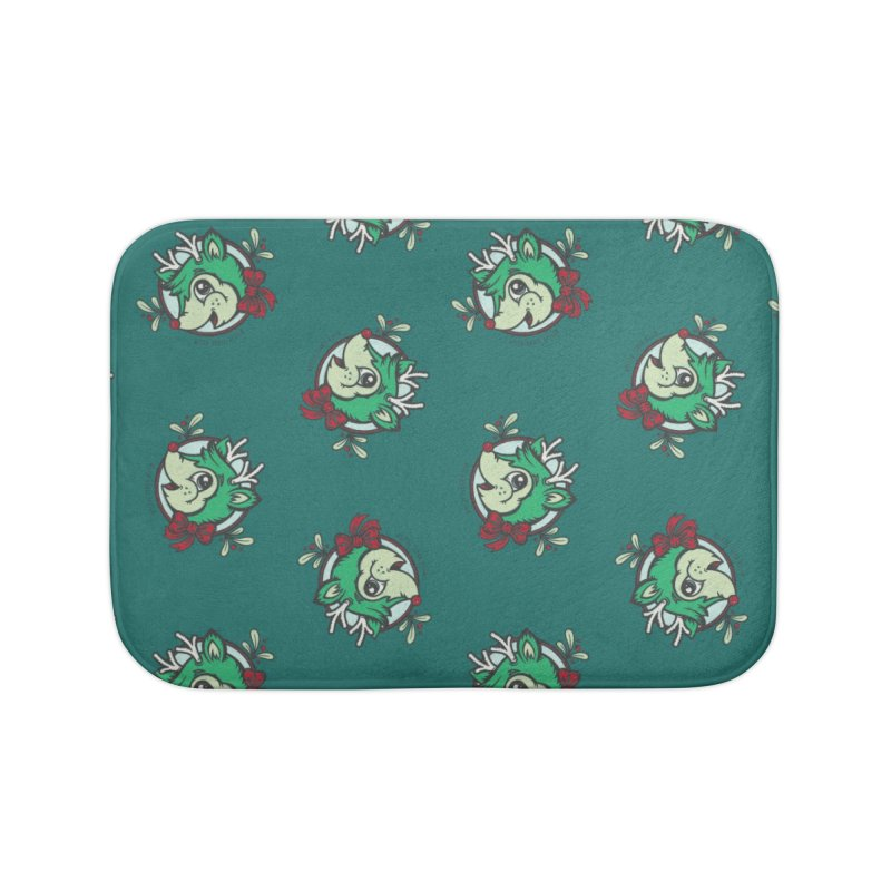 Happy Holi-Deer! Home Bath Mat by Witch House Design