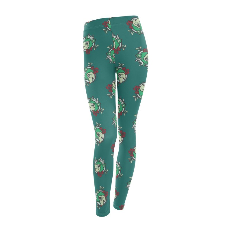 Happy Holi-Deer! Women's Leggings Bottoms by Witch House Design