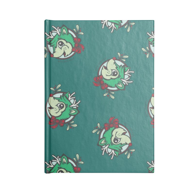 Happy Holi-Deer! Accessories Lined Journal Notebook by Witch House Design
