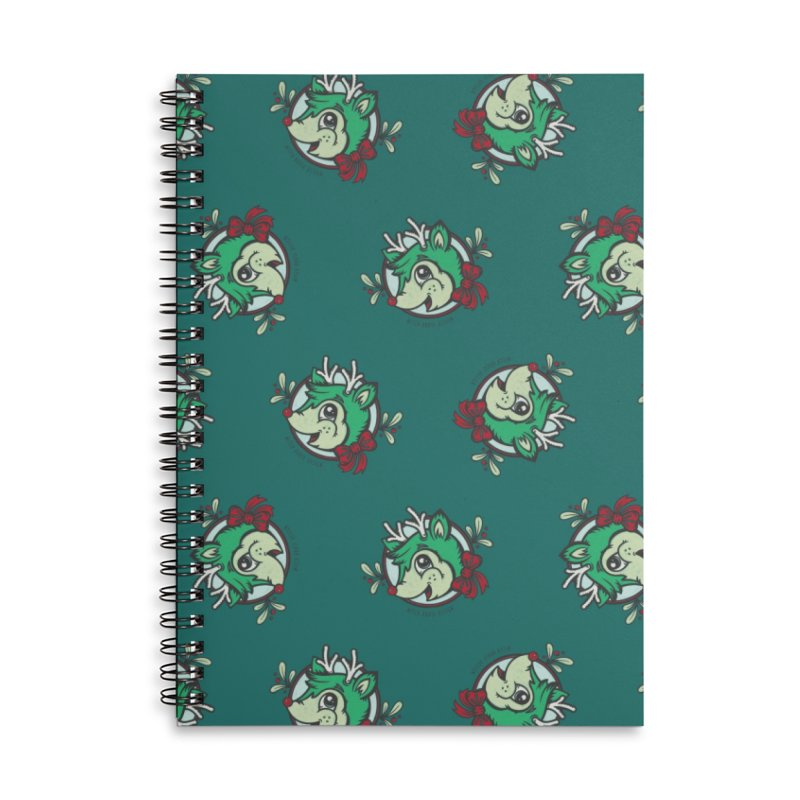 Happy Holi-Deer! Accessories Lined Spiral Notebook by Witch House Design