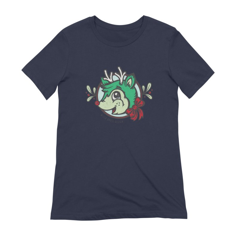 Happy Holi-Deer! Women's Extra Soft T-Shirt by Witch House Design