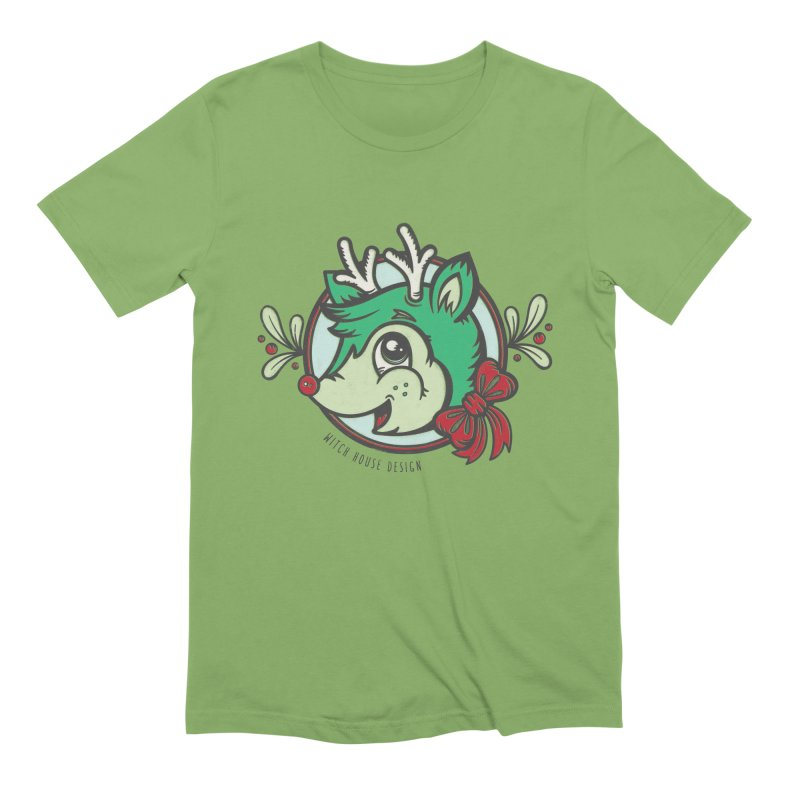 Happy Holi-Deer! Men's Extra Soft T-Shirt by Witch House Design